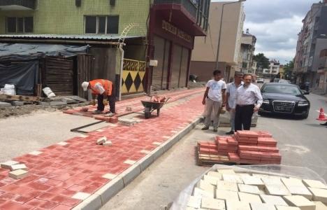 Bafra'da kaldırım çalışmaları