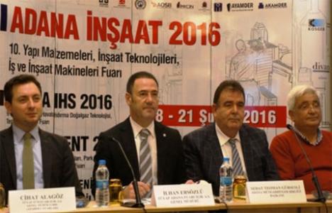 İnşaat sektörü Adana'daki