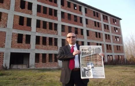 28 Şubat mağduru bina senelerdir bitirilmeyi bekliyor!