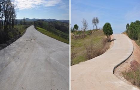 İzmit ve Derince köyleri arasına beton yol yapılıyor!