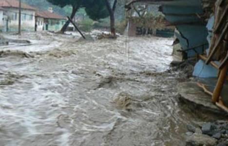 Erzin'deki sel nedeniyle 291 kişi tahliye edildi!
