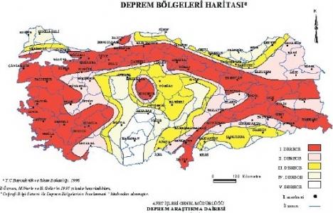 Türkiye'deki binalar 19 yıllık deprem haritasına göre yapılıyor!