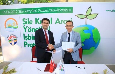 Şile'nin kırsal arazi yönetimi iş birliği protokolü imzalandı!