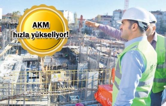 Yeni AKM'nin yüzde 60'ı tamam!