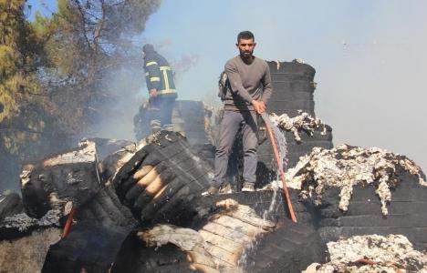 Şanlıurfa'da çırçır fabrikasında yangın çıktı!