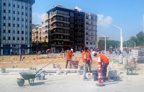 Taksim Meydanı'nda çalışmalar