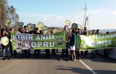 KOS, 3. köprü projesini protesto etti!