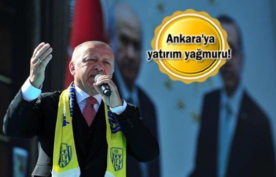 Cumhurbaşkanı Erdoğan'dan Ankara'ya metro ve millet bahçesi müjdesi!