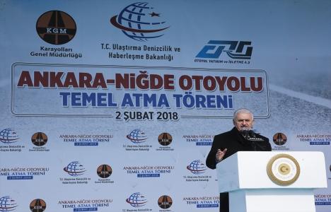 Ankara-Niğde Otoyolu'nun temeli