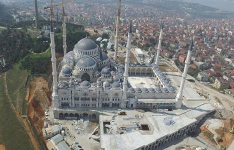 Çamlıca Camisi inşaatının