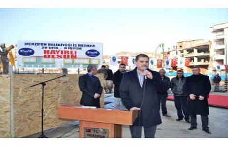 Merzifon Belediyesi 8 işyeri ve 28 ofisin temelini attı!