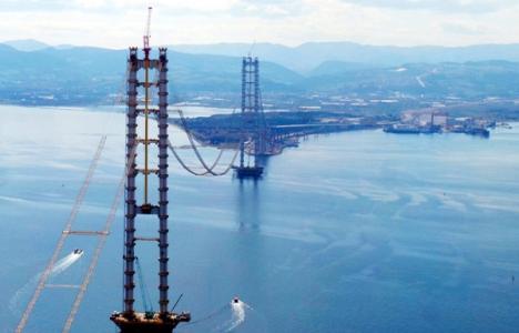 İzmit Körfez Geçişi Asma Köprüsü'nde çalışmalar sürüyor!