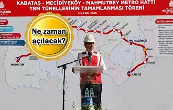 Kabataş-Mahmutbey Metro Hattı'nın tünel çalışması tamamlandı!