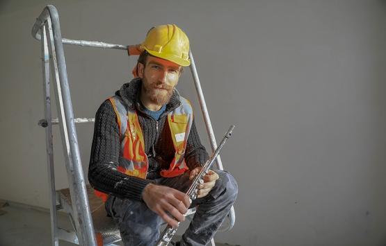 İnşaat işçisi Orhan Şen'in yan flüt tutkusu!