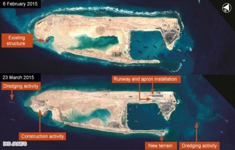 Çin, denizin ortasında