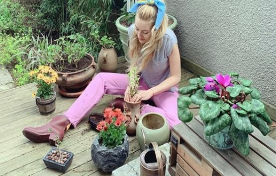 Sinem Kobal bahçe düzenlemesine 10 bin lira harcadı!