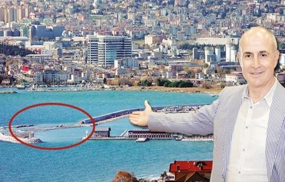 Büyükçekmece Yat Limanı inşaatının bir kısmı denize gömüldü!