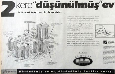 1995 yılında Eston Çamlıevler satışa sunulmuş!