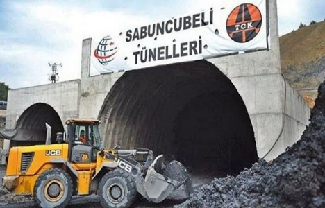 Sabuncubeli Tüneli'nin yüzde