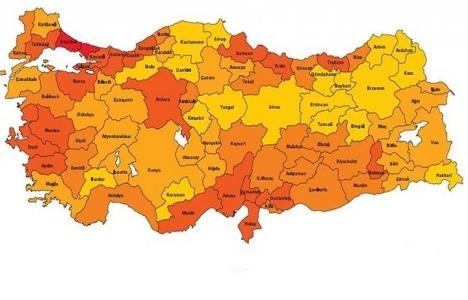 Türkiye deprem bölgeleri