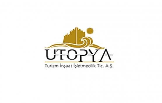 Ütopya Turizm İnşaat'ın şirket payları yakın izleme pazarına alındı!