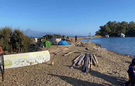Fethiye Yassıca Ada'daki kaçak yapı yıkıldı!