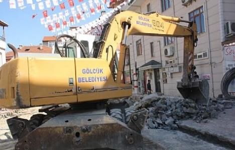 Gölcük Prestij Sokak projesinde çalışmalar hızlandı!