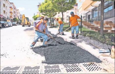 Pursaklar'da asfalt çalışmaları