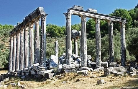 Muğla Zeus Tapınağı'nda restorasyon başladı!