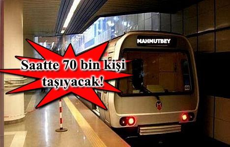 Mecidiyeköy Mahmutbey metrosunda