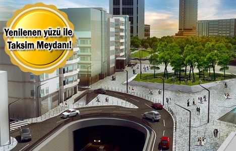 Taksim Meydanı çalışmalarında