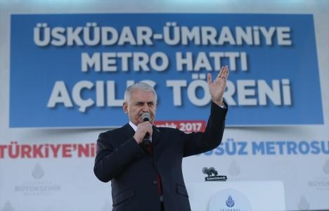 Başbakan Yıldırım: İstanbul'da 1.023 kilometre metro hedefimiz var!