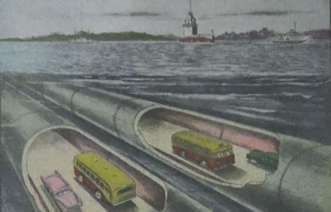 1965 yılında Boğaz'ın iki yakası Sualtı Asma Tüneli ile bağlanacakmış!