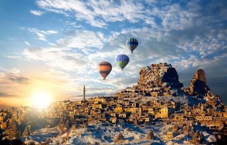 Kapadokya'ya gelen turist