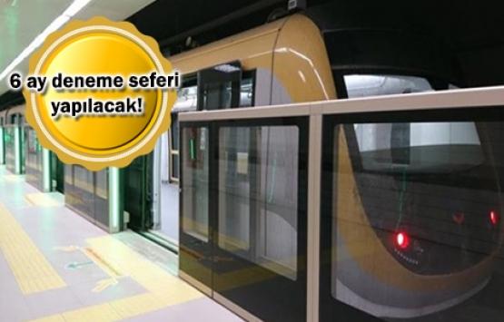 Mahmutbey Metrosu'nda test sürüşleri başlıyor!