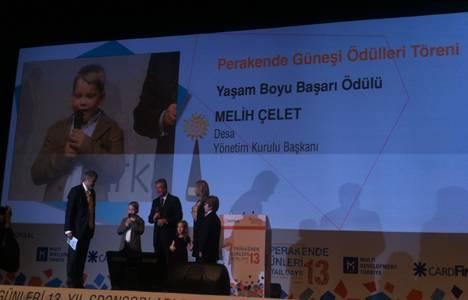 Perakende Güneşi Ödülleri'nde yaşam boyu onur ödülü Melih Çelet'in oldu!