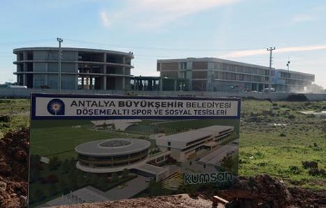 Antalyaspor Tesisleri'nin kaba inşaatı tamamlandı!
