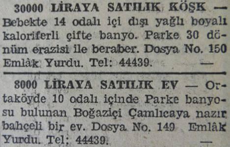 1942 yılında Bebek'te
