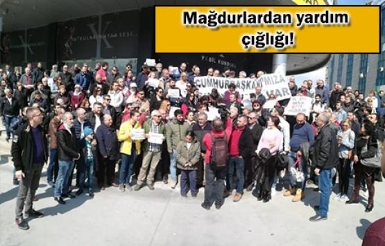 Innovia 4 mağdurlarından Yeşil Holding önünde eylem!