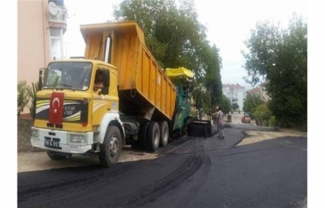 Safranbolu'da asfalt çalışmaları