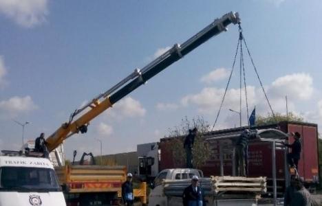 Aksaray'da otobüs durakları yenileniyor!