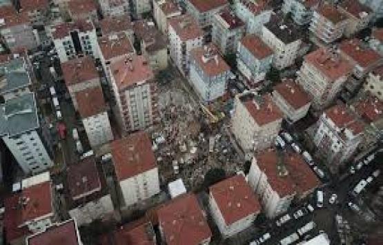 Kartal'da yıkılan binanın