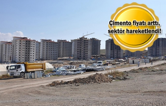İnşaat sektörüne çimento