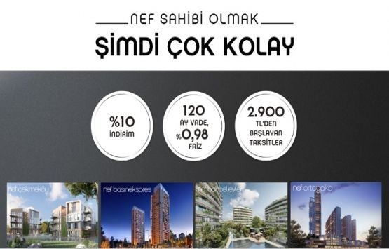 NEF projelerinde 120 ay 0,98 faiz fırsatı!
