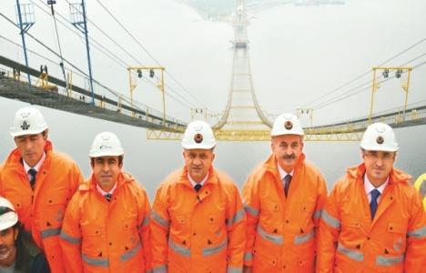 İzmit Körfez Geçişi Köprüsü 252 metre yüksekliğe ulaştı!