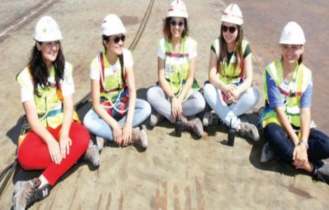 İzmit Körfez Köprüsü'nde 40 kadın mühendis çalışıyor!