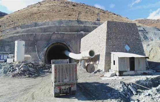Kop Tüneli inşaatının