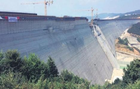 Melen Barajı'nın inşaatında