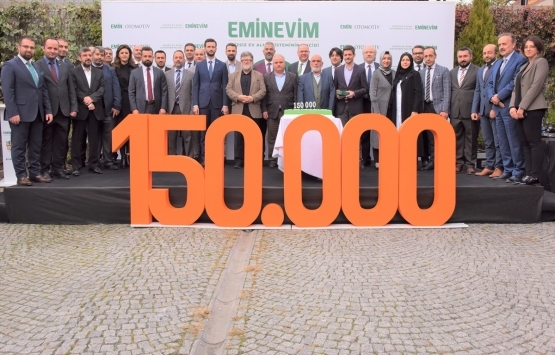Eminevim faizsiz sistemde 150 bininci teslimatını yaptı!