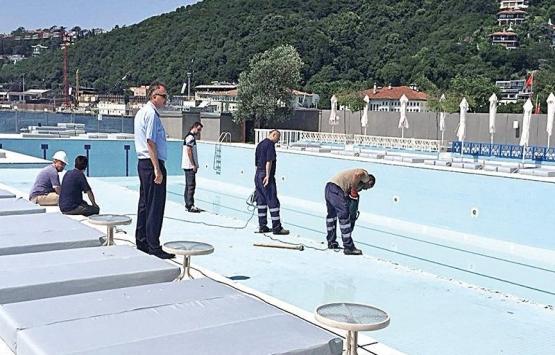 Galatasaray Adası'ndaki havuzun